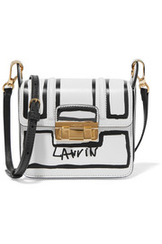 Lanvin Jiji mini printed leather shoulder bag
