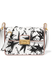 Jiji printed leather shoulder bag