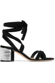 Gianvito Rossi Embellished suede sandals