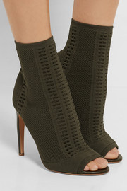 Gianvito Rossi Stretch-knit boots