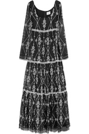 Erdem Deborah embroidered silk-organza gown