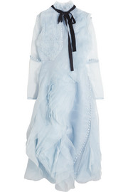 Erdem Ivonne ruffled silk-organza dress