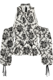 Erdem Azalea cutout fil coupé top