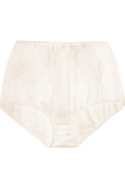 Dolce & Gabbana Lace-trimmed stretch-silk satin briefs