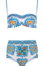 Printed underwired bikini