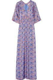 Tory Burch Corinne printed silk-blend maxi dress