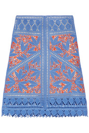 Tory Burch Whitney crocheted lace skirt