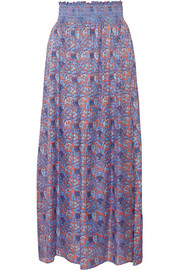 Tory Burch Marilyn printed silk-blend maxi skirt