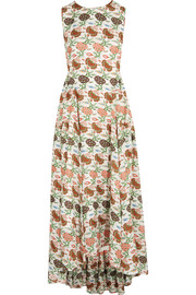 Kendal floral-print silk dress