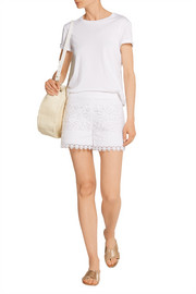 Kinsley cotton guipure lace shorts