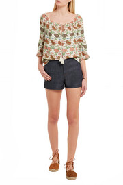 Julia floral-print silk blouse