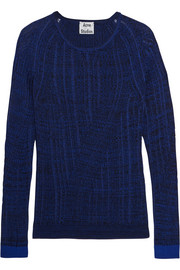 Acne Studios Marcy Mouliné ribbed-knit cotton-blend sweater