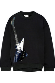 Beta Guitar embellished cotton-blend sweatshirt
