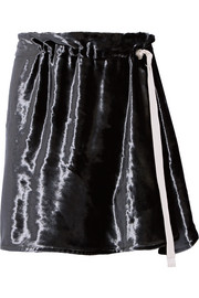 Lucinda velvet mini skirt