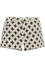 Balm frayed cotton-blend bouclé shorts