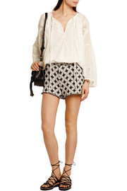 IRO Balm frayed cotton-blend bouclé shorts