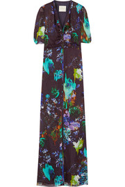 Mason by Michelle Mason Printed silk-chiffon gown
