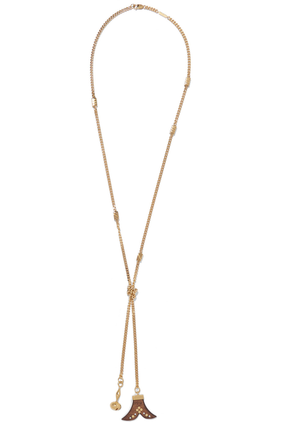 Chloé Gold-Plated Wood Necklace