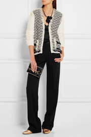 Lanvin Woven tulle and cotton cardigan