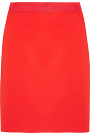 Lanvin Grosgrain-trimmed crepe mini skirt
