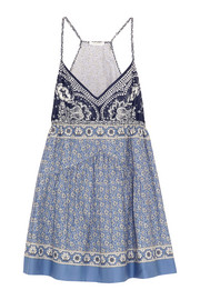 Printed cotton-voile mini dress