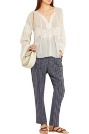 Chloé Printed crepe tapered pants