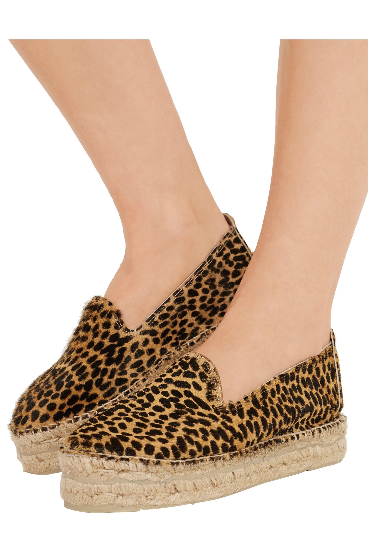 Manebi Accra cheetah-print calf hair espadrilles
