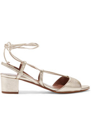 Lori metallic leather sandals