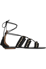 Tulum studded suede sandals