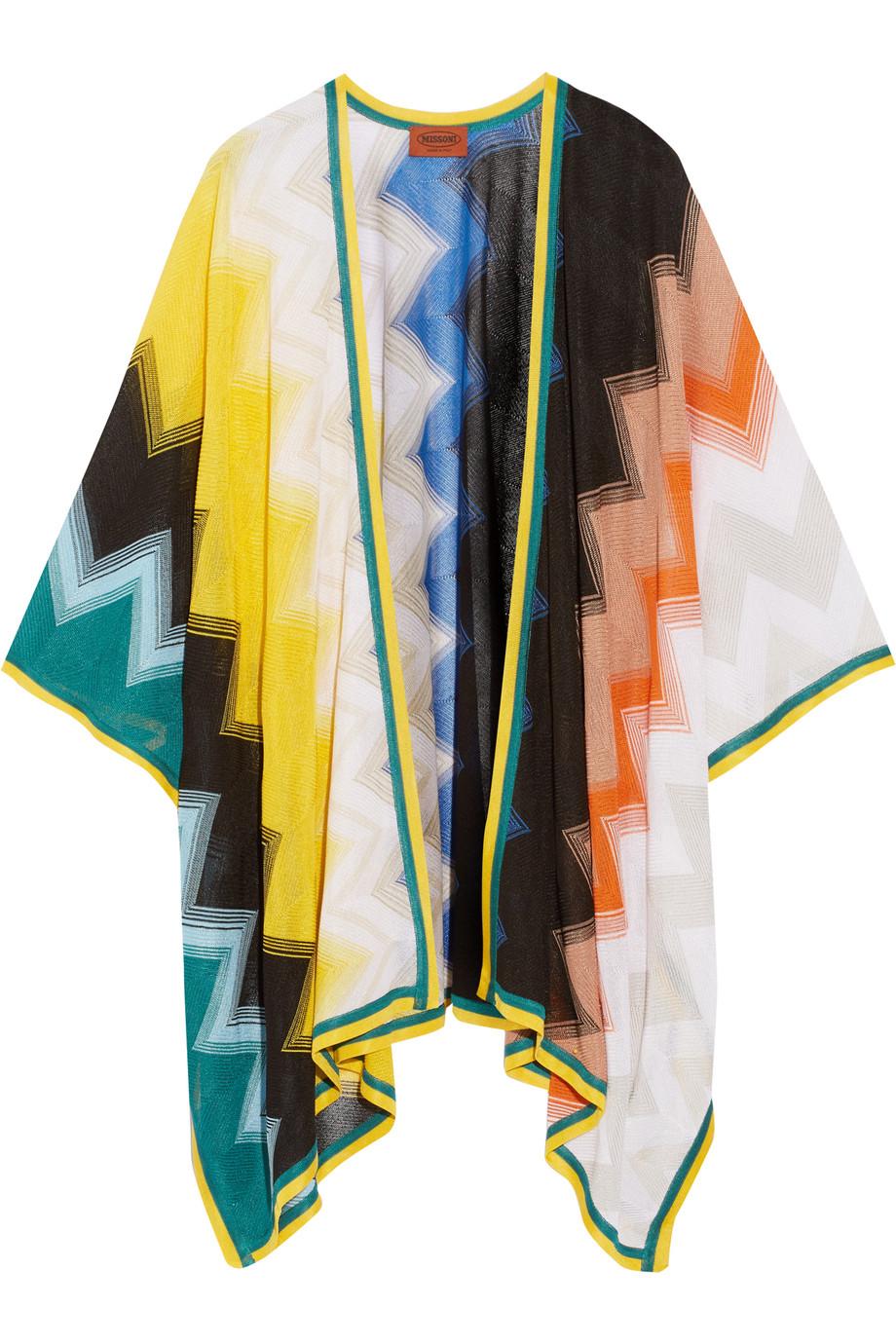 Missoni Crochet-Knit Wrap, White, Women's