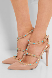 Valentino Rockstud embellished leather pumps