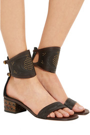 Valentino Studded embossed leather sandals