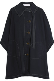 Cotton-canvas cape