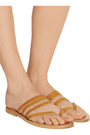 K Jacques St Tropez Sycomore leather sandals