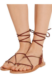 K Jacques St Tropez Lucile leather sandals