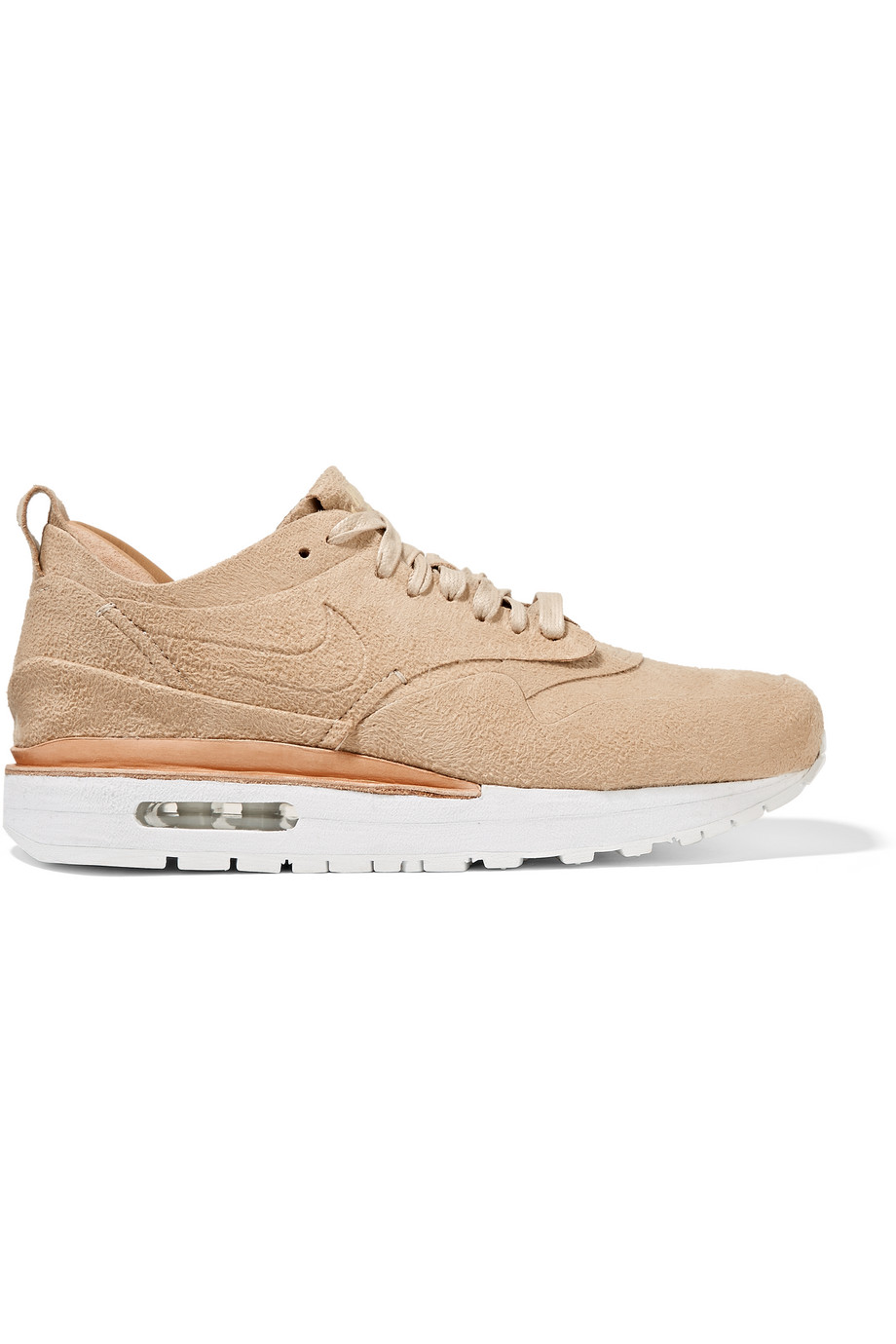 Nike Nikelab Air Max 1 Royal Faux Suede and Leather Sneakers, Beige, Women's, Size: 5.5
