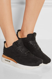 NikeLab Air Max 1 Royal faux suede and leather sneakers