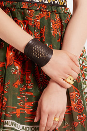 Valentino Embellished leather bracelet