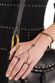 Valentino Gold-plated finger bracelet