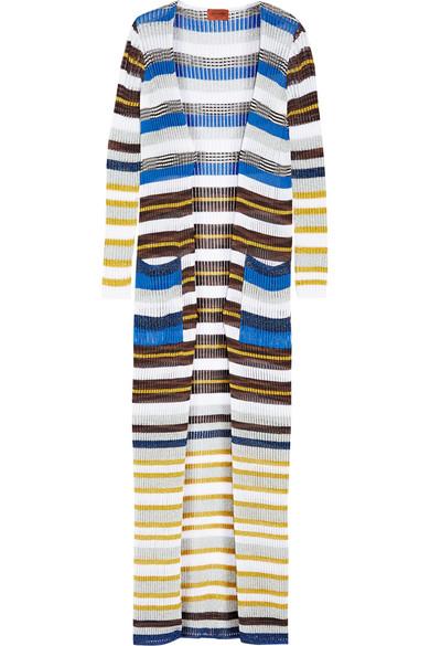 Missoni - Metallic Striped Crochet-knit Cardigan - White