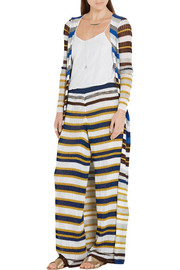 Missoni Metallic striped crochet-knit cardigan