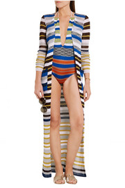 Missoni Mare cutout striped crochet-knit halterneck swimsuit
