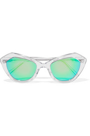 Bilbao square-frame acetate mirrored sunglasses