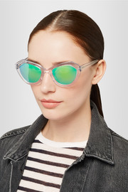Prism Bilbao square-frame acetate mirrored sunglasses