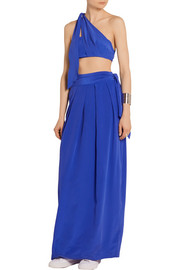Paper London Washed silk-crepe maxi skirt
