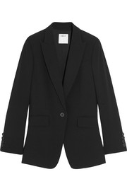 Open-back crepe blazer