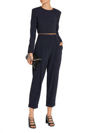 DKNY Pinstriped stretch wool-blend tapered pants