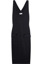 DKNY Pinstriped satin dress