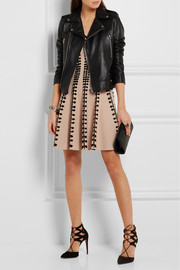 Alexander McQueen Intarsia stretch-knit mini dress