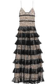 Alexander McQueen Tiered ruffled lace gown